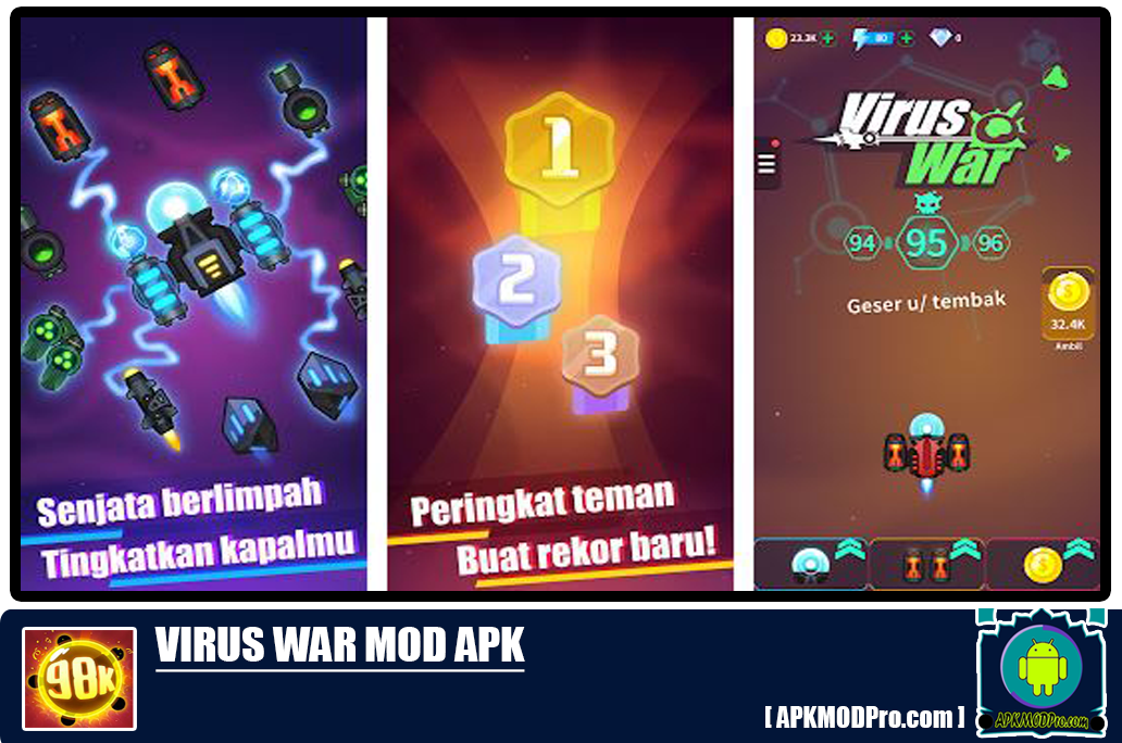 Virus War MOD APK 1.6.6 [Unlimited Money, Unlocked All]