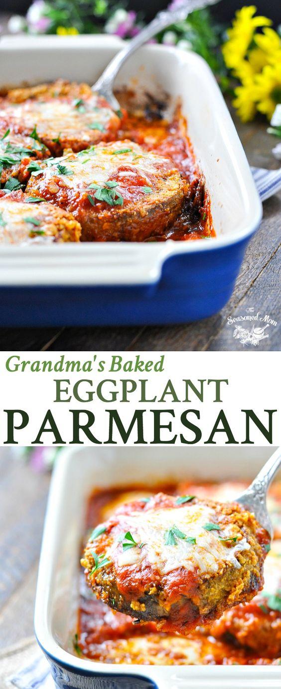 GRANDMA'S BAKED EGGPLANT PARMESAN #grandma #baked #bakingrecipes #eggplant #parmesan #vegetarian #vegetarianrecipes #veggies #veganrecipes