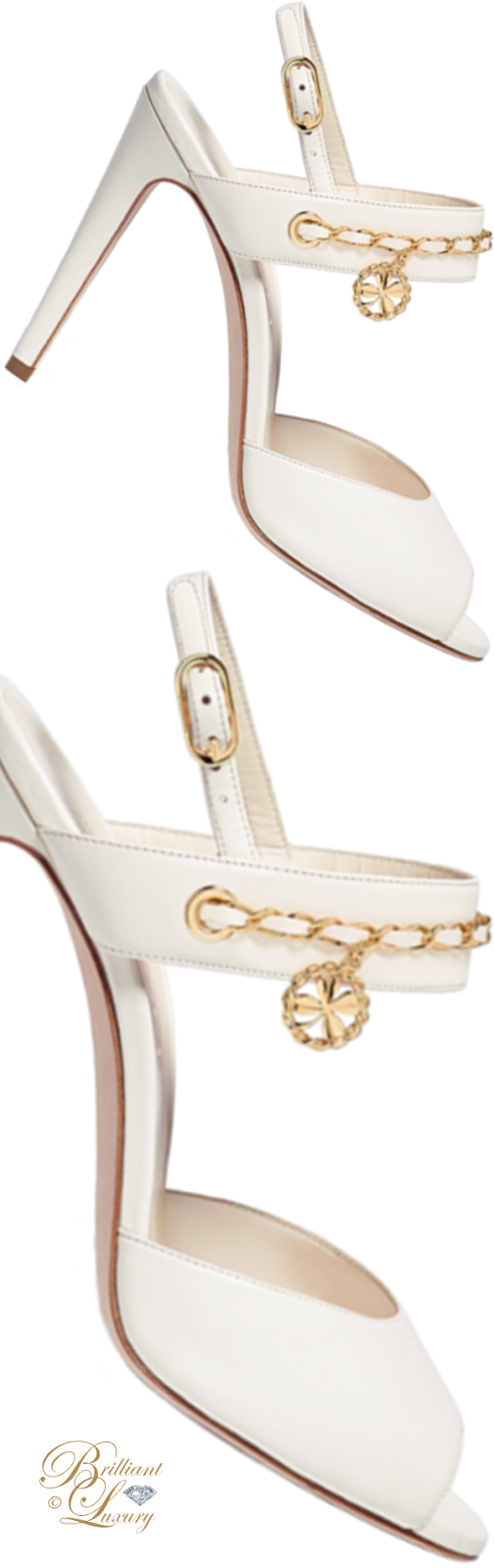 Brilliant Luxury ♦ Chanel ivory lambskin sandals