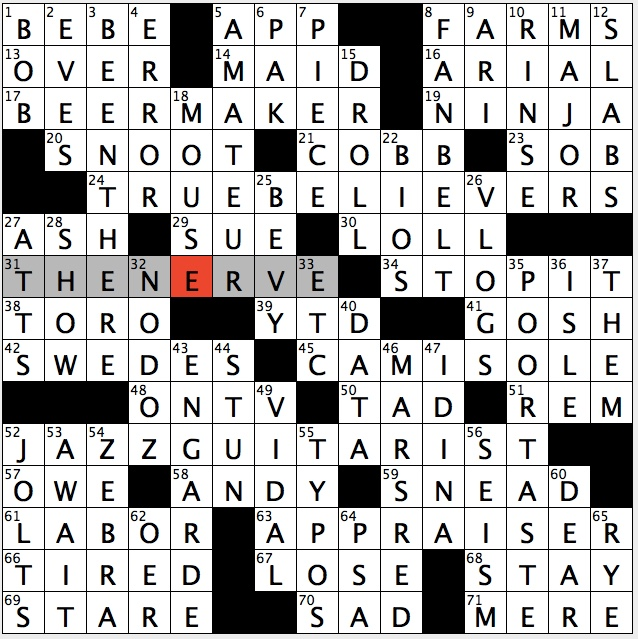 Rex Parker Does the NYT Crossword Puzzle: Oldest golfer to