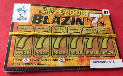 £1 Blazin' 7s Scratchcard
