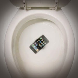dropped iphone in toilet family this day was crappier than yours 14035