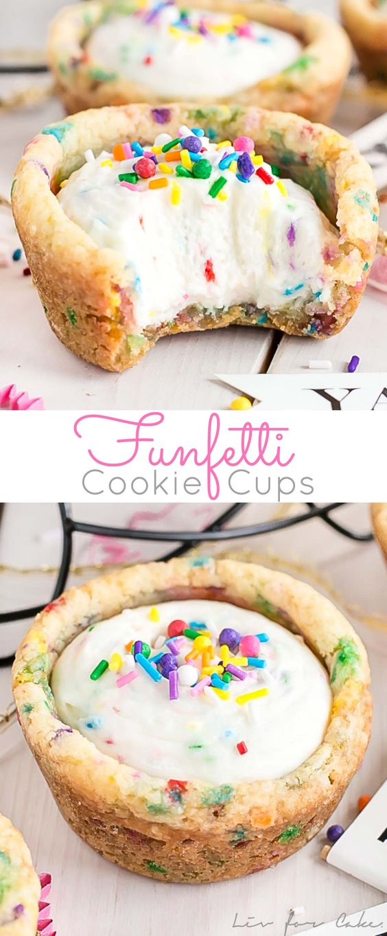 Funfetti Cookie Cups