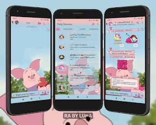 Baby Pig Theme For YOWhatsApp & Fouad WhatsApp By Luna