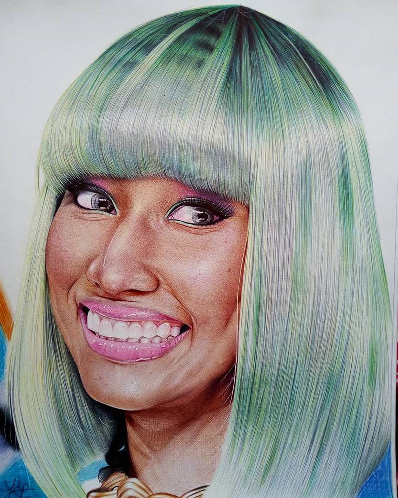 Nicki Minaj ballpoint pen artwork