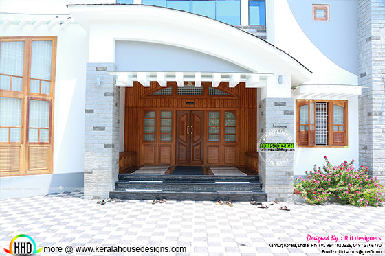 Front door and veranda