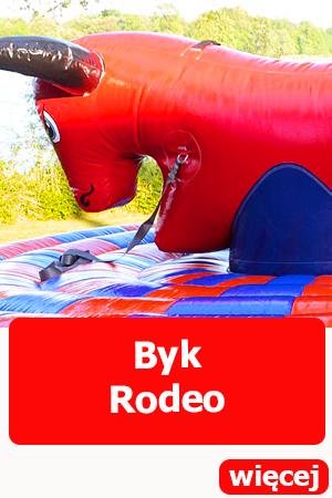 Dmuchany byk rodeo, dmuchańce wrocław, atrakcje dla dzieci