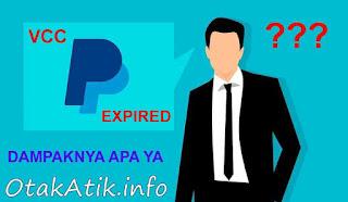 VCC PayPal Expired ? Inilah Yang Akan Terjadi !