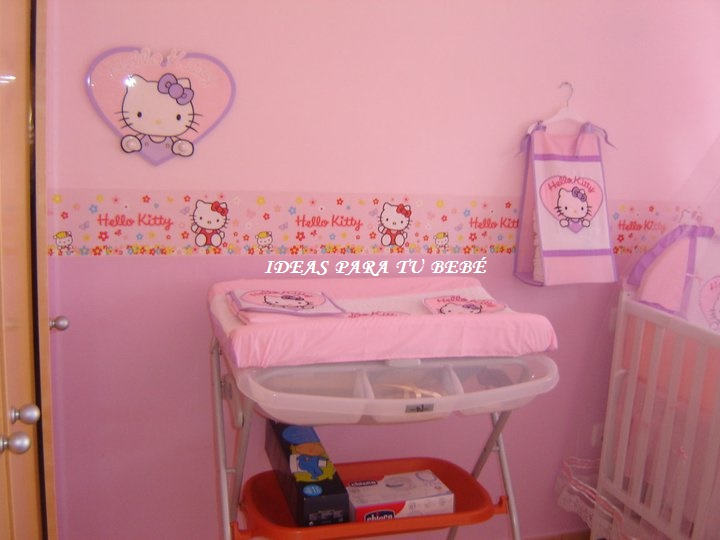 Ideas para tu beb idea de habitaci n hello kitty for Cuarto para nina hello kitty