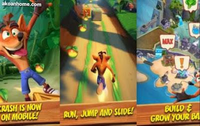 تحميل لعبة كراش بانديكوت للاندرويد Crash Bandicoot : On the run APK احدث اصدار