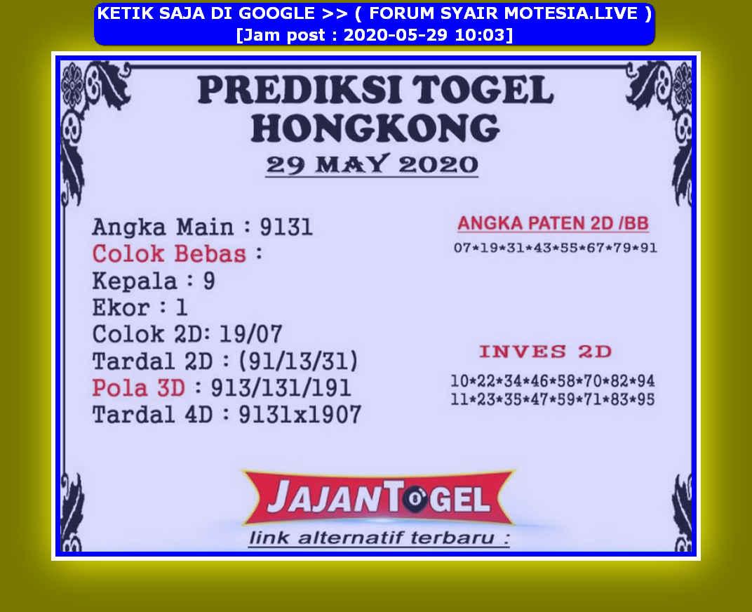 Kode syair Hongkong Jumat 29 Mei 2020 157