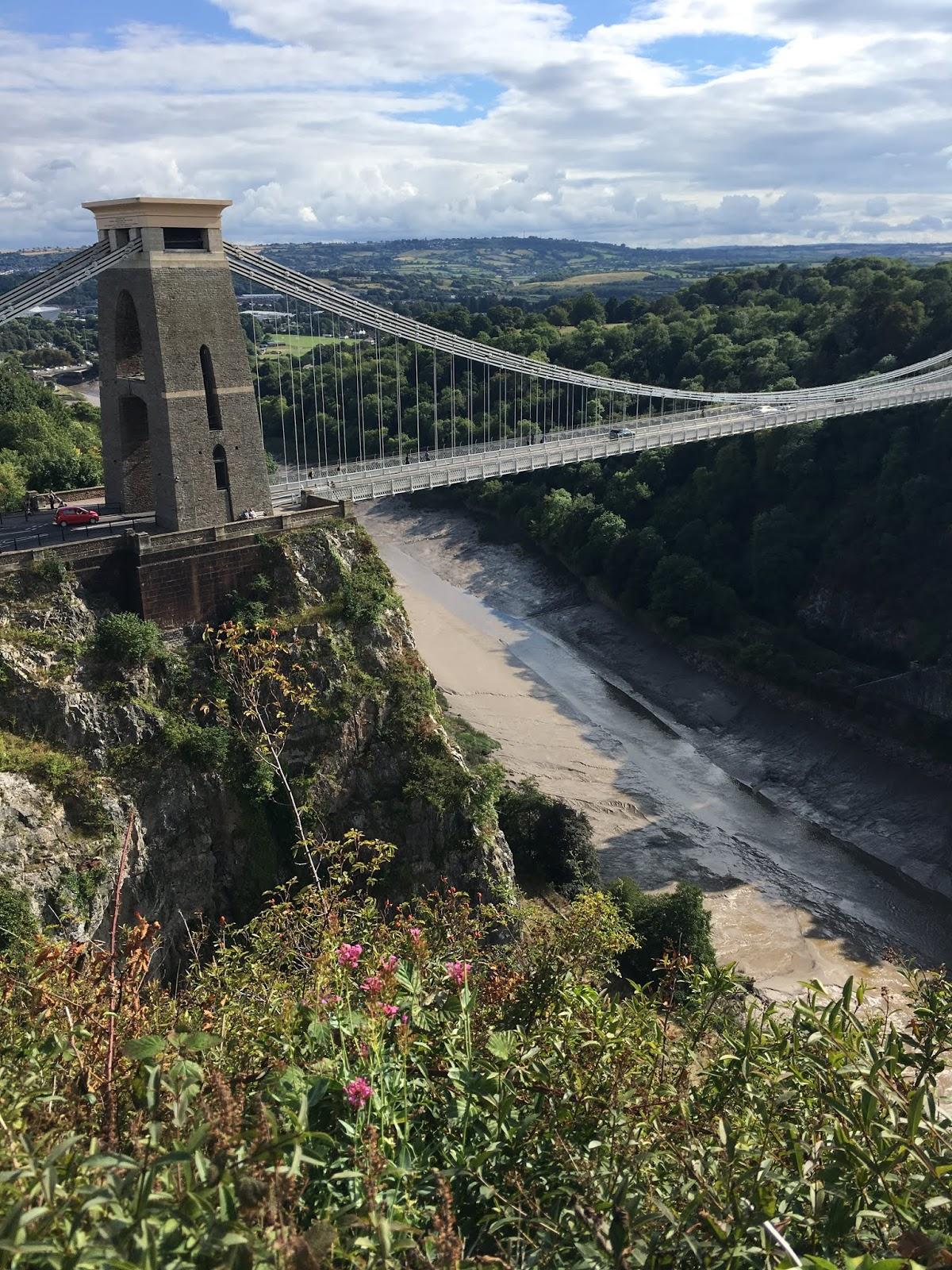 Isambard Kingdom Brunel's Clifton Suspension Bridge over the River Avon in Bristol