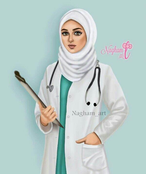✓ Terbaik Dokter Cantik Berhijab Gambar Dokter Kartun Perempuan Muslimah