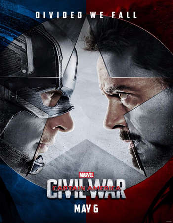 Poster Of Captain America Civil War 2016 English 700MB HDCAM x264 Free Download Watch Online Worldfree4u