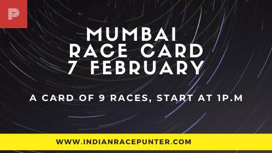Mumbai Race Card 7 February