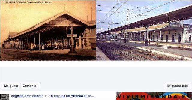 fotografía de estación de rente de Miranda de Ebro