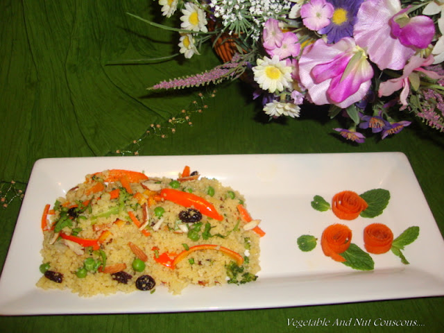 images for Vegetable & Nut Couscous Recipe / Couscous with Vegetables & Nuts