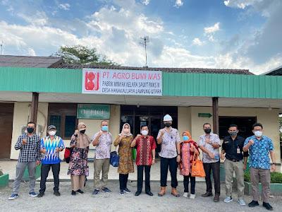 Kadis Perkebunan Lampung Lakukan Pembinaan Usaha Perkebunan ke PT. Agro Bumi Mas