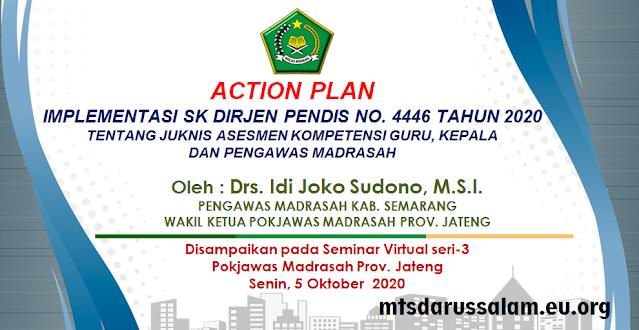 Implementasi SK Dirjen Pendis No. 4446 Tahun 2020 Tentang Juknis AKG, Kepala Dan Pengawas Madrasah