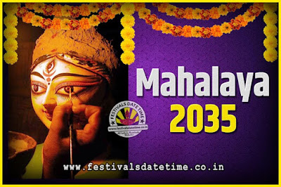 2035 Mahalaya Puja Date and Time Kolkata, 2035 Mahalaya Calendar
