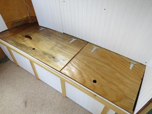 travel trailer bench