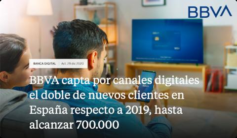 BBVA capte 275000 nouveaux clients en 2020