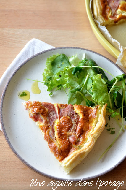 Tarte au jambon Serrano et bleu d'Auvergne