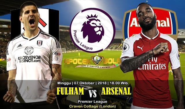 Prediksi Fulham VS Arsenal 7 Oktober 2018