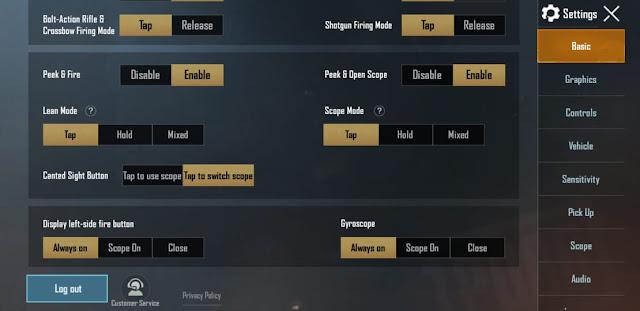 Best basic settings for Pubg Mobile