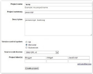 akun hosting untuk menyimpan kode javascript kedalam google code