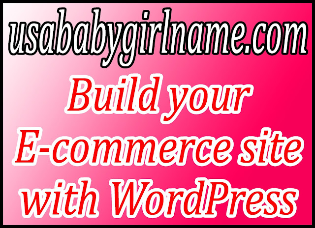 Build your E-commerce site with WordPress