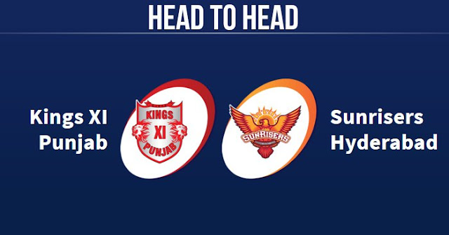 KXIP vs SRH Head to Head: SRH vs KXIP Head to Head IPL Records