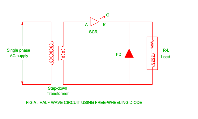 half-wave-circuit-using-freewheeling-diode