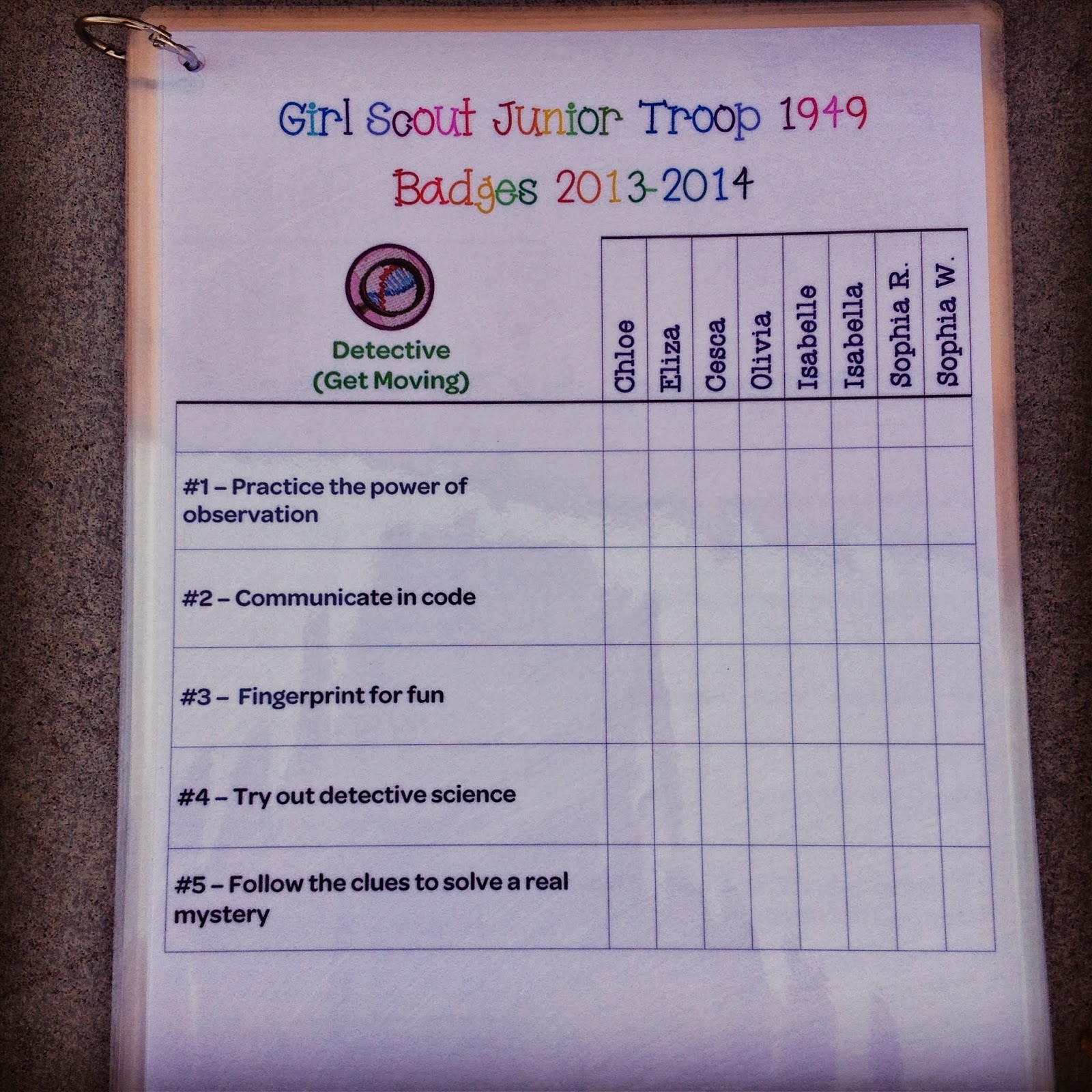 I Am Girl Scouts Junior Badge Tracker Updated For Girl