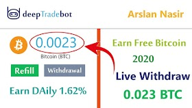 DeepTradeBot - Earn Free Bitcoin Eth Doge Ltc 2020 - New Earning Site Live Withdraw Proof 0.002 BTC