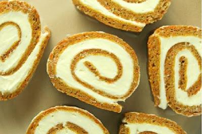 مكونات روول كيكه الجزر بالجبن الكريمي,طريقة عمل روول كيكه الجزر بالجبن الكريمي
