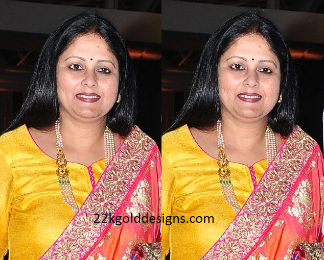 Jayasudha in Layered Pearl Haram