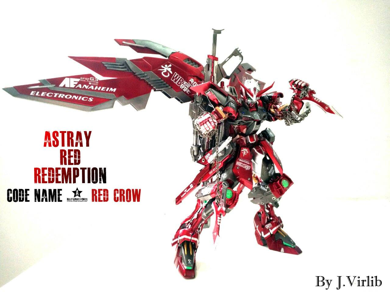"Custom Build: MG 1/100 Gundam Astray Red Redemption ""Red Crow"""