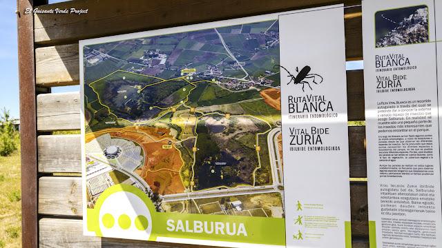 Parque de Salburua, paneles Rutas Vitales