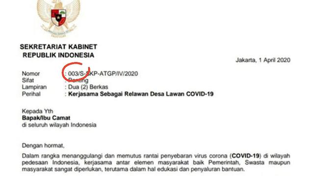 Kontroversi Surat Stafsus, BPK: Harus Dicari Nomor 001 dan 002, Semoga Tidak Pakai Kop Setkab RI