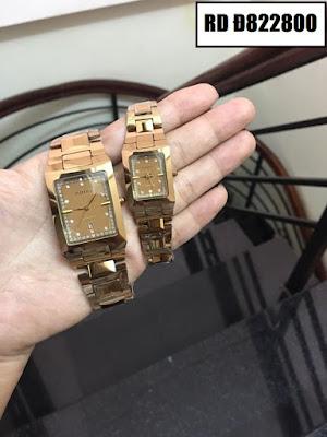 Đồng hồ cặp đôi Rado mặt vuông RD Đ822800