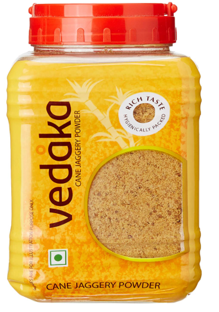 Amazon Brand - Vedaka Jaggery Powder, 1kg Jar