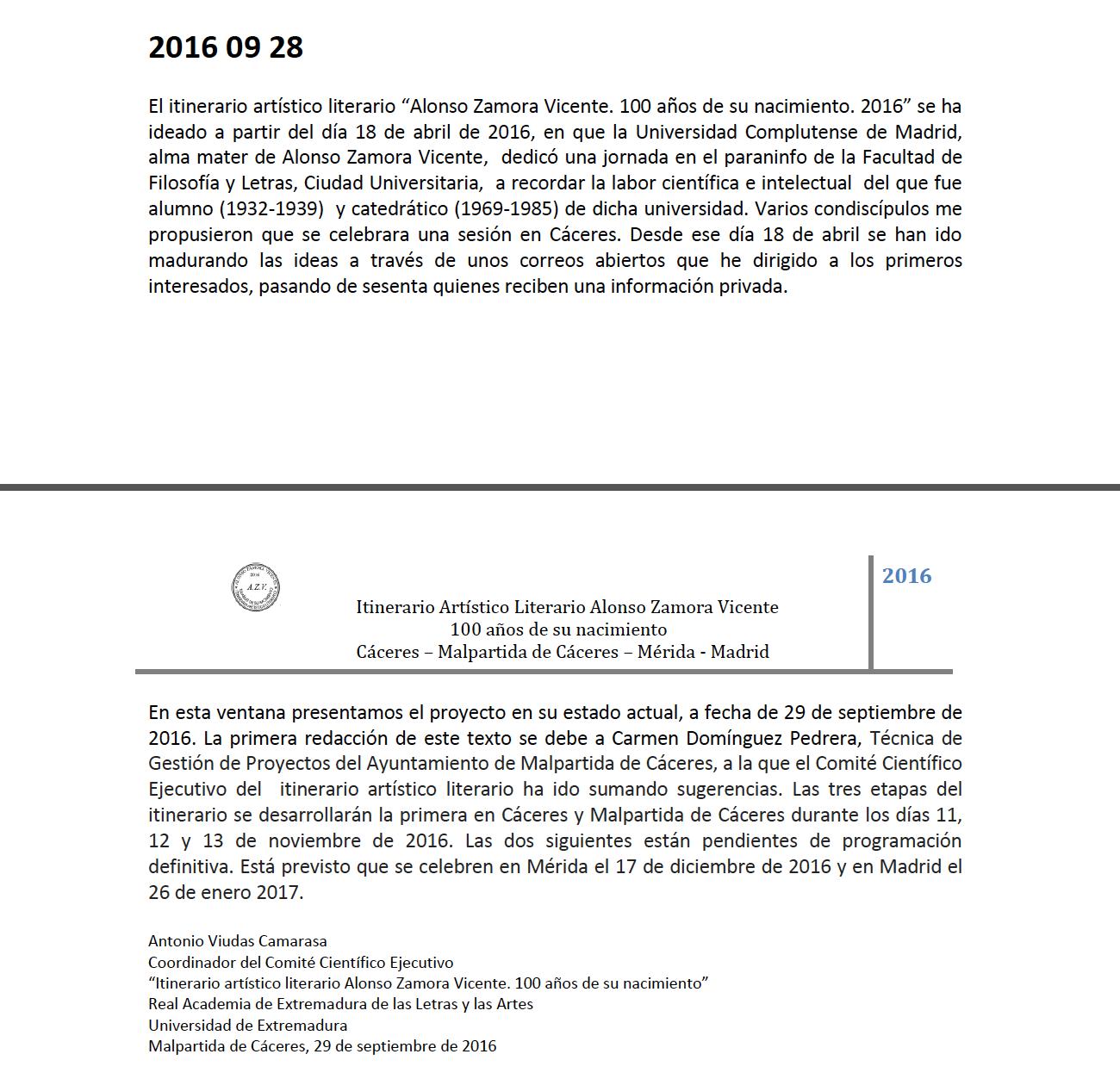 HAN GANADO LOS MALOS: Programa: los 100 años de Alonso Zamora ...
