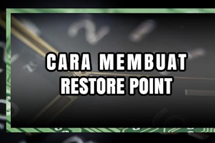 Cara Membuat Restore Point