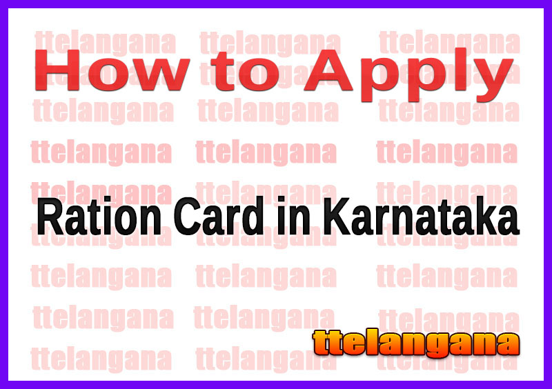 How to Apply Ration Card in Karnataka