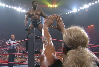WCW Bash at the Beach - Booker T faced Kanyon