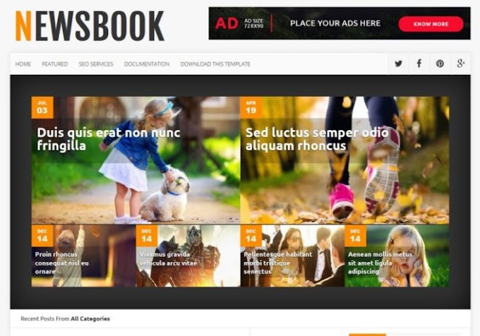NewsBook Blogger Template Free Download 2020