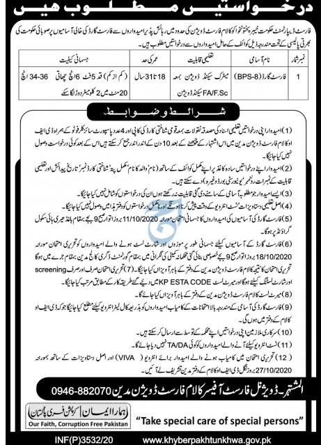 Forest Department KPK Jobs September 2020 Advertisement No 3