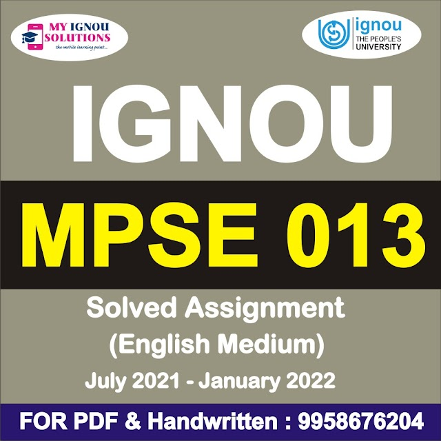 MPSE 013 Solved Assignment 2021-22