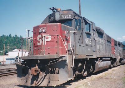 Southern Pacific GP38-2 #4812 in Oakridge, Oregon, on July 18, 1997